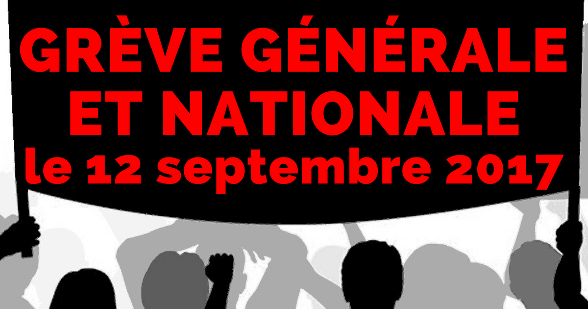 """Résultat de recherche d'images pour """"grève 12 septembre 2017"""""""